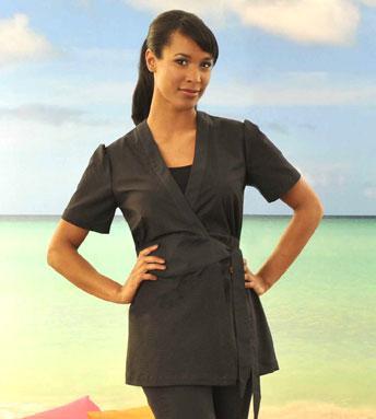 New spa uniforms salon uniforms articles for Spa uniform cotton