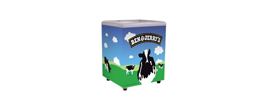 Ben & Jerry's Ice Cream Display Chest Freezers