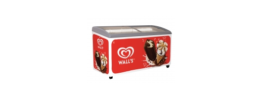 Wall's Ice Cream Display Chest Freezers- 18 LED