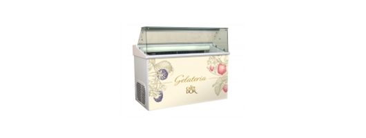 Carte D'Or branded ice cream scooping freezer