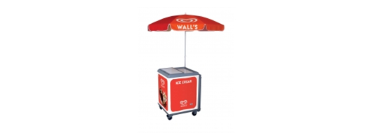 Wall's branded ice cream Hawking Trolley