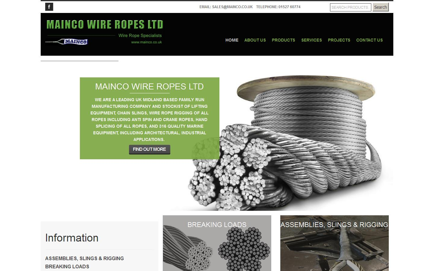 Mainco Wire Ropes Ltd, Redditch, Worcestershire, B98 9NB