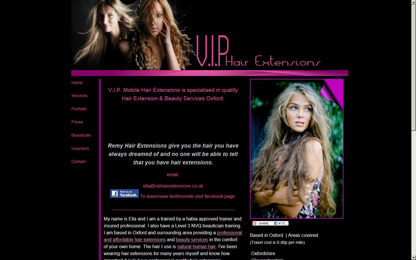 Vip Hair Extensions Beauty Mobile Chipping Norton Ox7 5jd