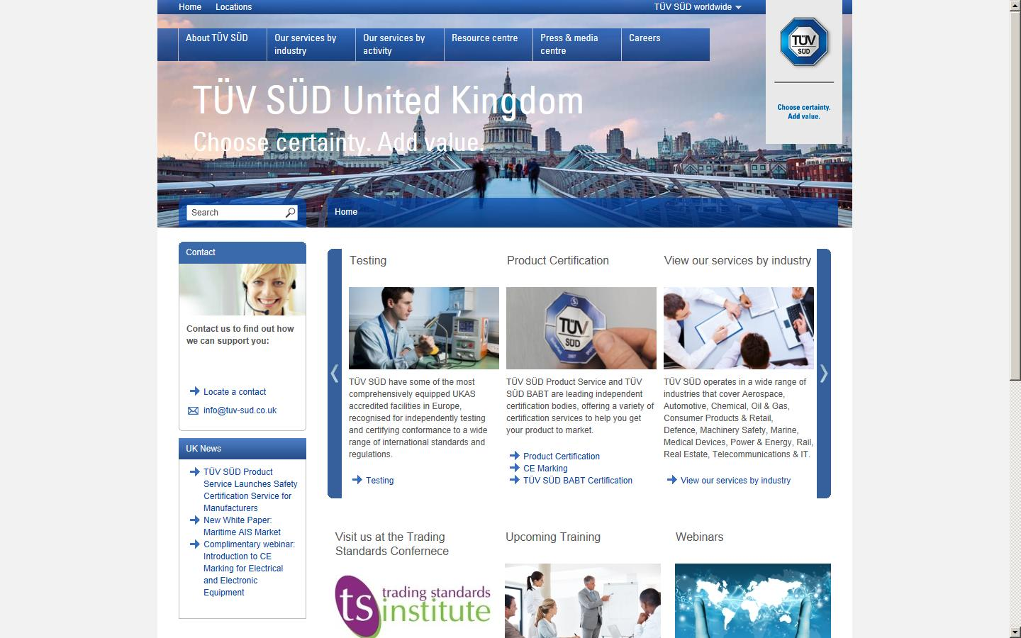 TUV Product Services, Fareham, Hampshire, PO15 5RL