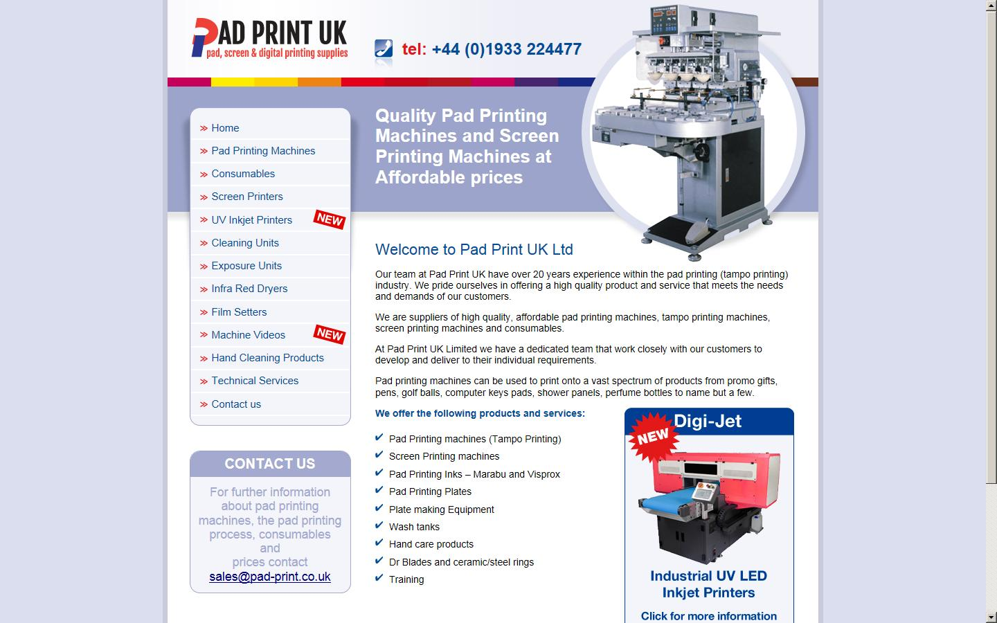 Pad Print UK Limited, Wellingborough, NN8 6UW