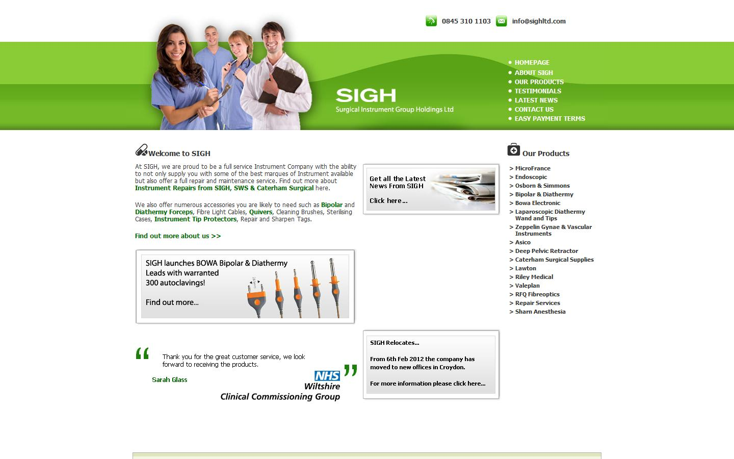 Surgical Instrument Group Holdings Ltd, Surrey, CR0 2DN