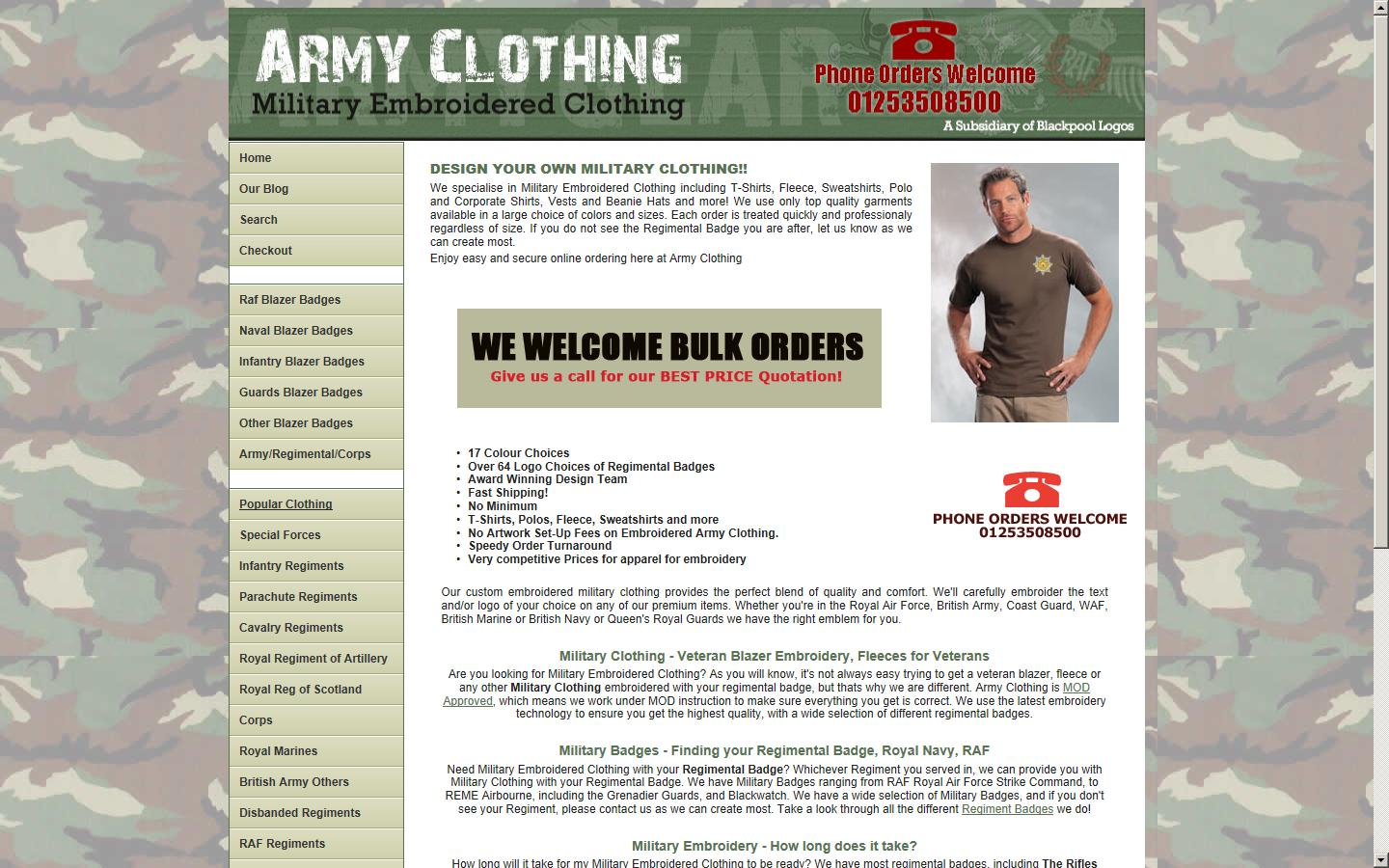 Design your own t shirt military - We Specialise In Military Clothing Specialist Allowing You To Design Your Own Military Uniform With Embroidered Logo Emblems