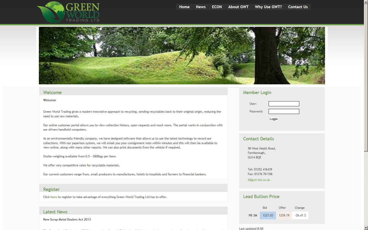 Green World Trading Ltd Farnborough Hampshire Gu14 8qr