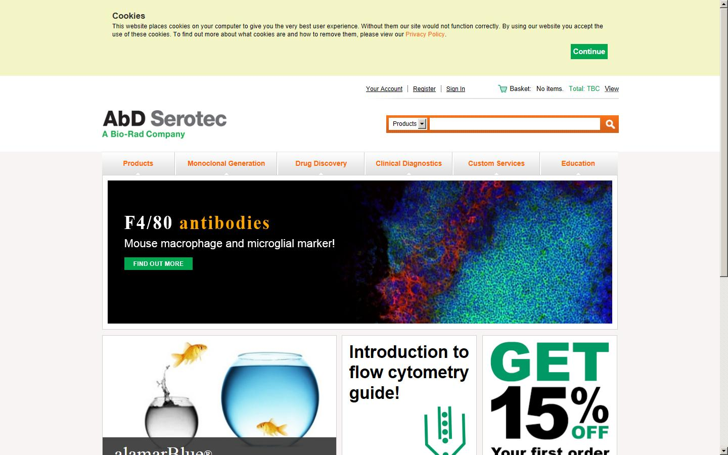 AbD Serotec Has Been One Of The World Leaders In Antibody Production Supplying Thousands Catalog Antibodies Kits And Accessories To Scientific