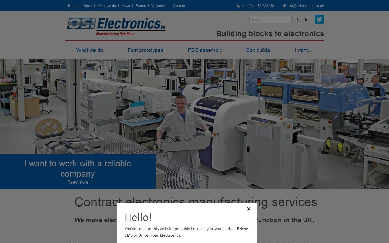 OSI Electronics UK, St  Neots, Cambridgeshire, PE19 8YP
