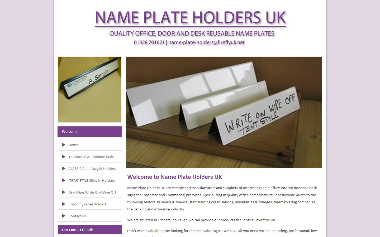 Name Plate: Door & Desk Name Plates, Traksigns, Name Plate Holders UK