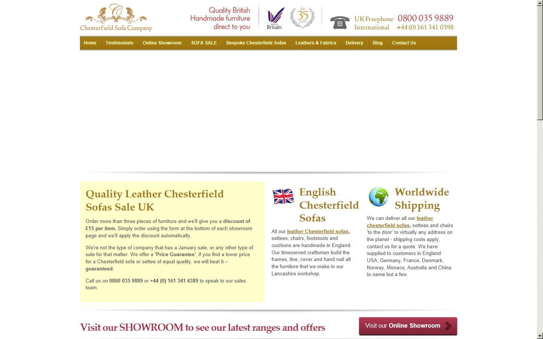 Chesterfield Sofa Company, Bacup, Lancashire, OL13