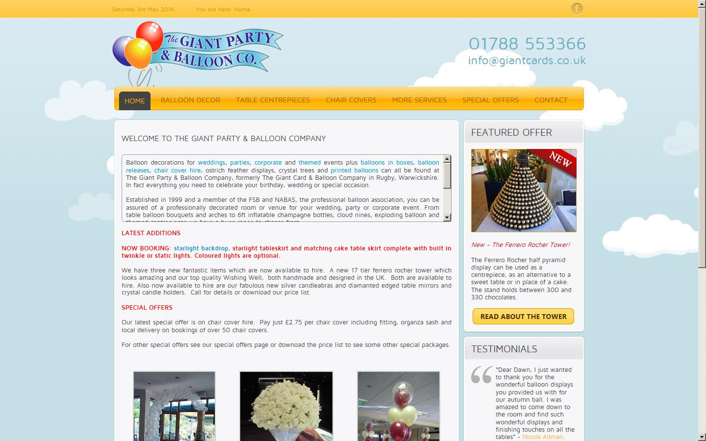 the giant card balloon company rugby warwickshire cv21 4du