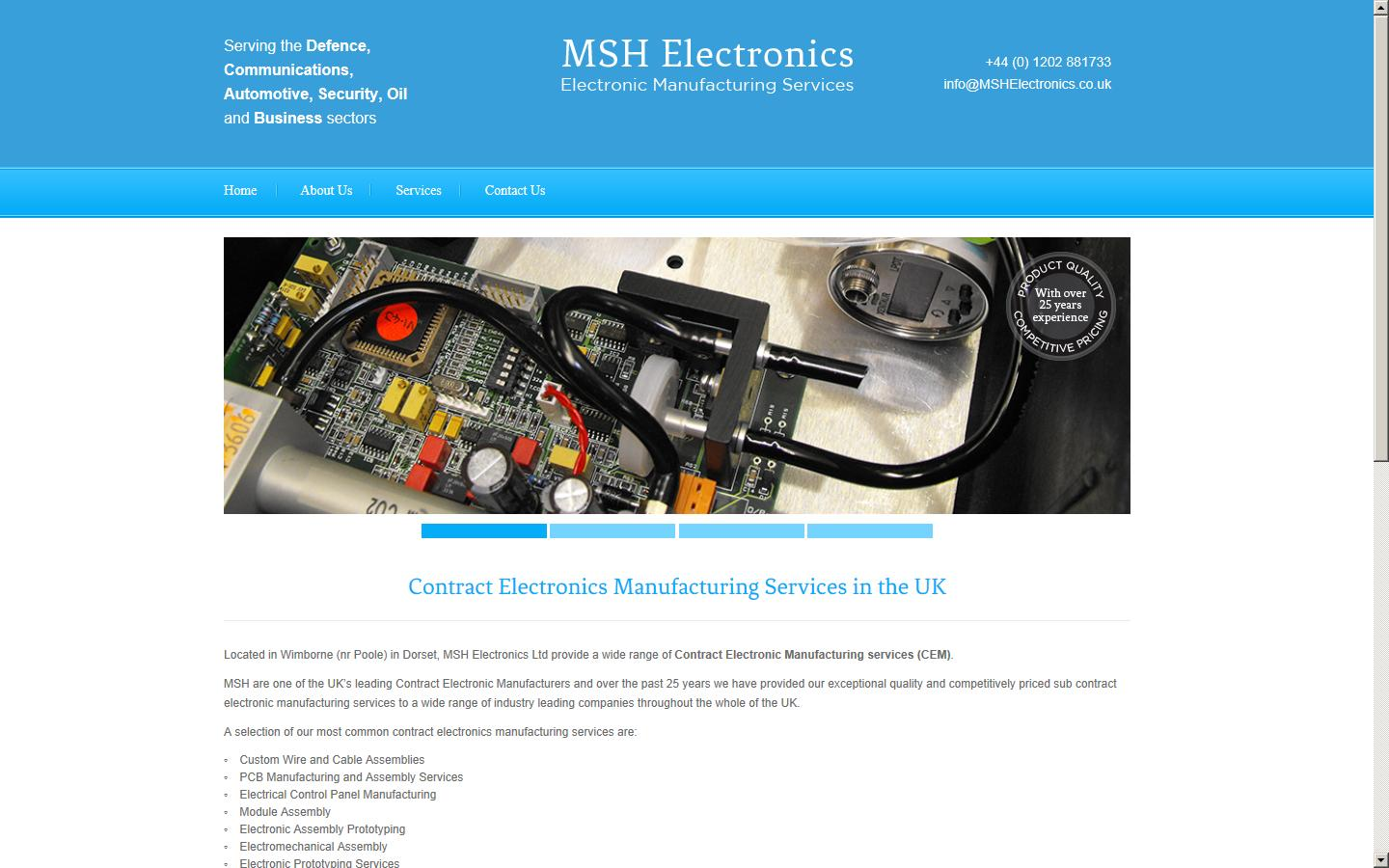 Msh Electronics Ltd Dorset Bh21 1hb Electronic Circuit Boardbga Pcb Assemblyelectronic Board Assemblies Control Panels Module Assembly Prototyping And Electromechanical Services To The Industry For
