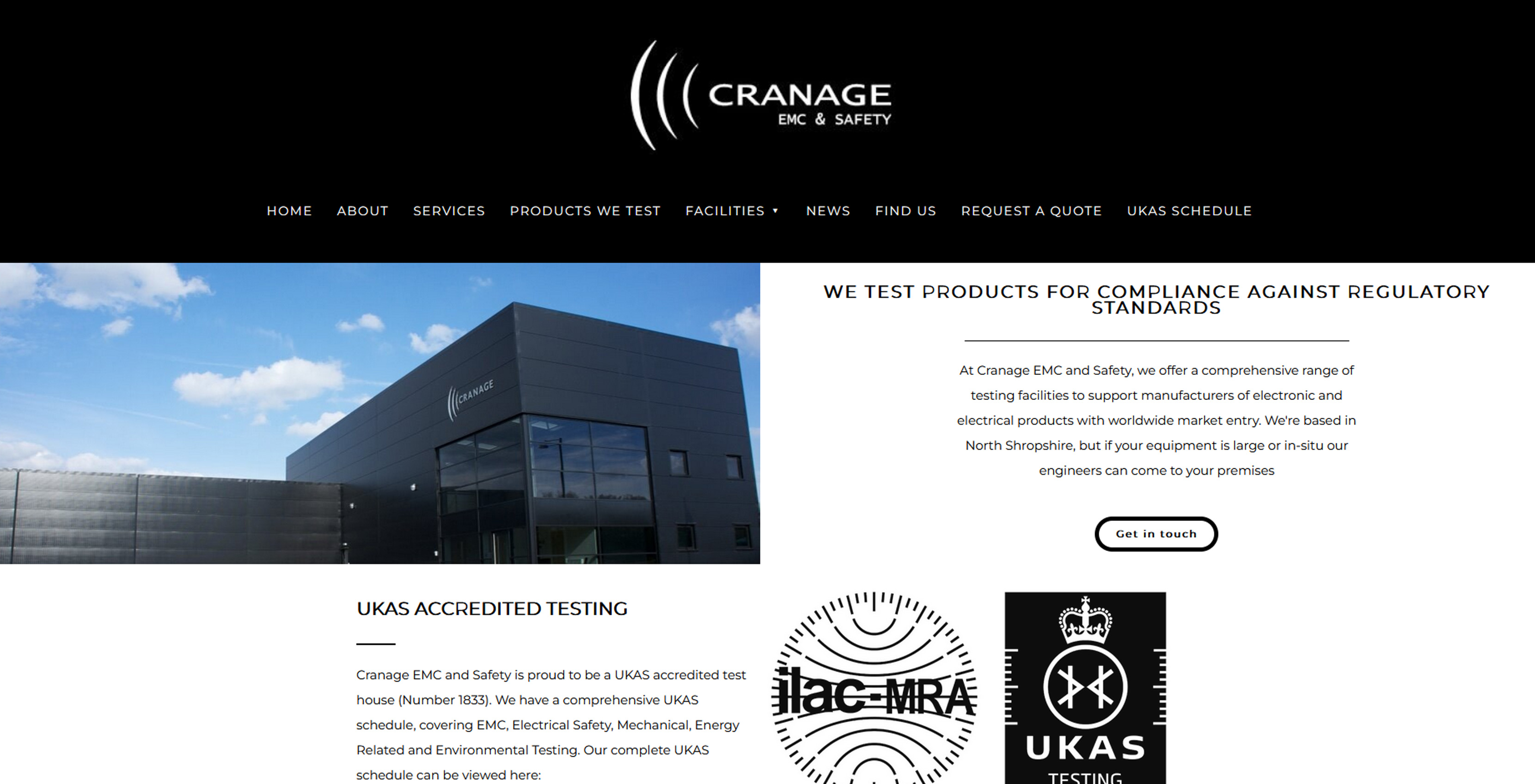 Cranage emc testing ltd market drayton shropshire tf9 3ag cranage emc testing ltd provide field evaluation laboratory testing and technical assistance for ce marking cb and nrtl certification in a variety of xflitez Choice Image