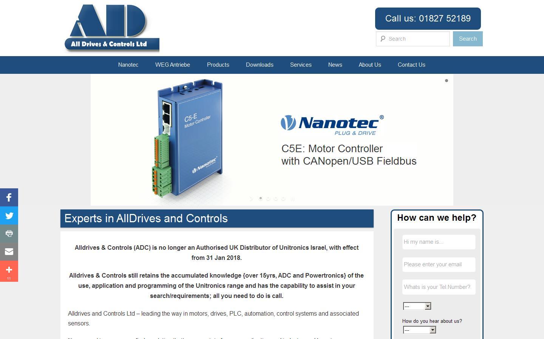 Alldrives & Controls Ltd, Tamworth, Staffordshire, B79 7DN