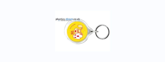 33mm Round Keyrings