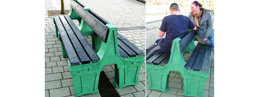 Theme Bins Double Sided Bench