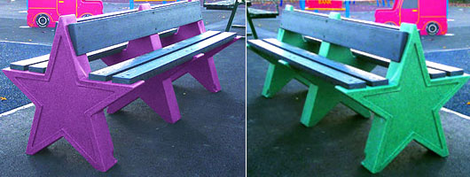 Theme Bins Star Bench