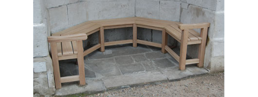 Bespoke Curved Wooden Bench