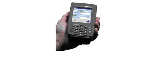 Software Solutions – Wireless hand terminal with built-in barcode scanner and SHARK software