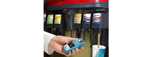 Bellingham & Stanley; OPTi Dispense refractometer testing dilution of post mix soda