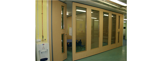 Glass Folding Partitions- Special Needs School