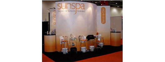 Modular exhibition system for Sunspa