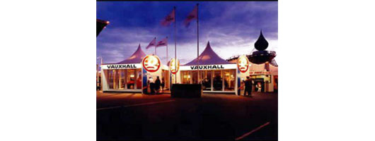 Exterior exhibition stand for Vauxhall