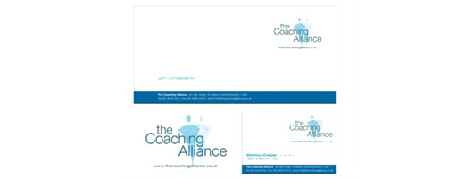 Graphic design logo and stationery for The Coaching Alliance