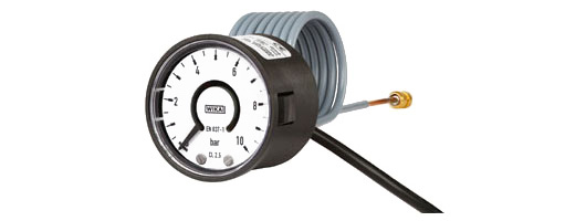 switchGAUGE Bourdon tube pressure gauge with electronic pressure switch Standard version, cable outlet Model PGS05