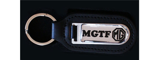 Genuine Leather Fob with Customed Domed Badge