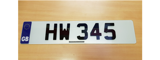 4D Number Plates 3