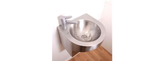 Shrouded stainless steel wash basin