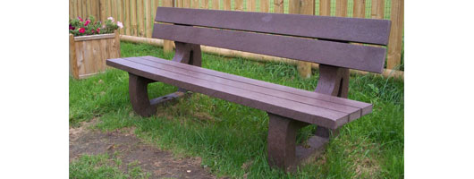Bonn ML Fordcombe recycled plastic bench