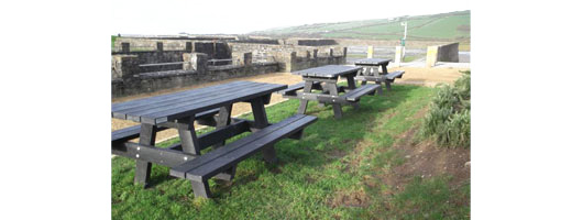 Kidwelly Quay picnic tables