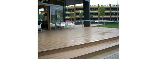 The Rock Cafe plastic decking