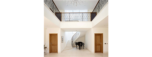 Metal Staircase Balustrade with Oak Handrail