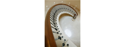 Continuous Helical Staircase Balustrade