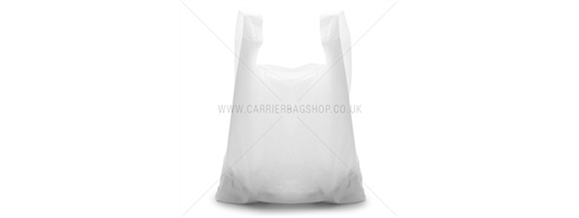 White Takeaway Plastic Carrier Bags