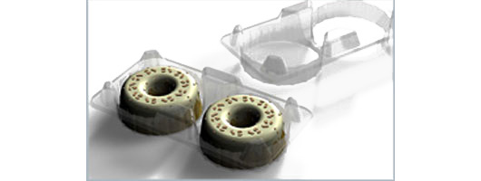 Doughnut Cake rPET Plastic packaging