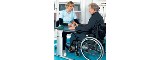 Height Adjustable Tables for Therapists from Ropox