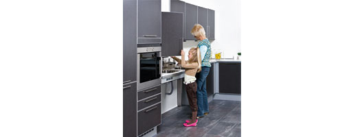 Height Adjustable Kitchen Cupboard from Ropox