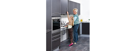 Height Adjustable Kitchen Units from Ropox