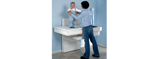 Height Adjustable Baby Changing Unit from Ropox