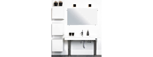 Height Adjustable Bathroom Furniture from Ropox