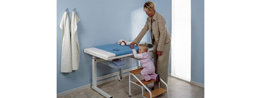 Height Adjustable Baby Change Units from Ropox