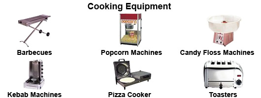 Cooking equipment by Millers Catering