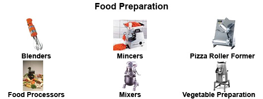 Food preparation equipment by Millers Catering