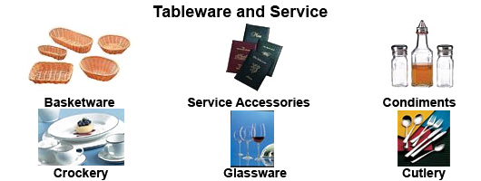 Tableware and service equipment by Millers Catering